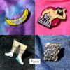 Pack 4 pin's