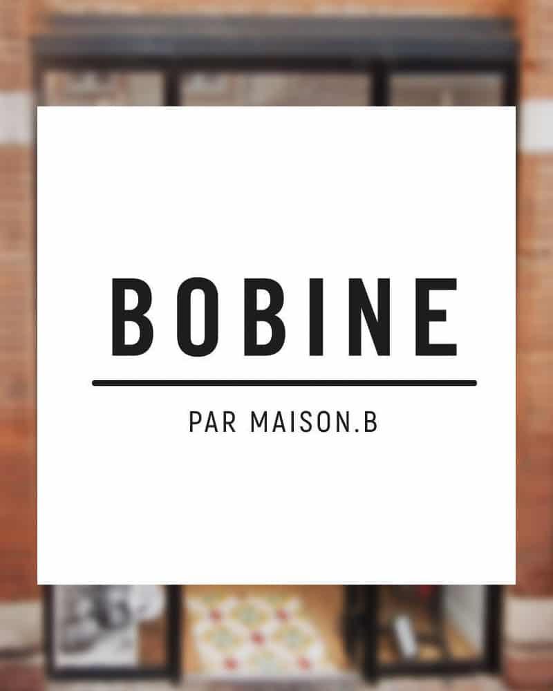 """Logo de la boutique """"Bobine"""" à Toulouse, point de vente officiel des éventails Ramdam Dlx"""