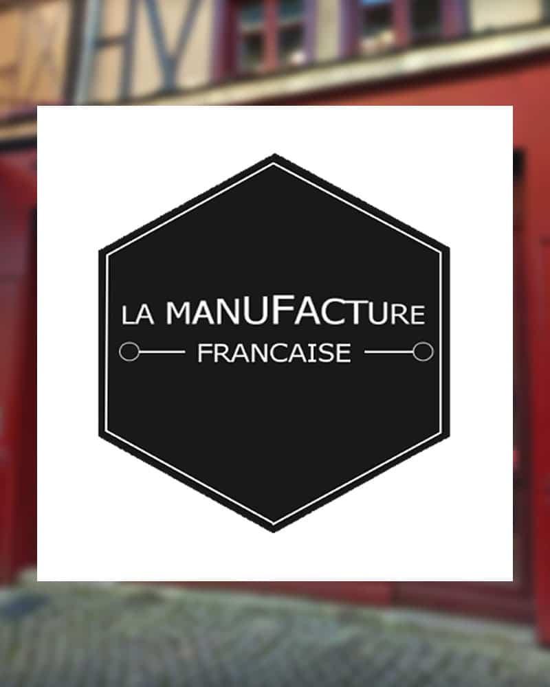 """Logo de la boutique """"La Manufacture Française"""" à Limoges, point de vente officiel des produits Ramdam Dlx"""
