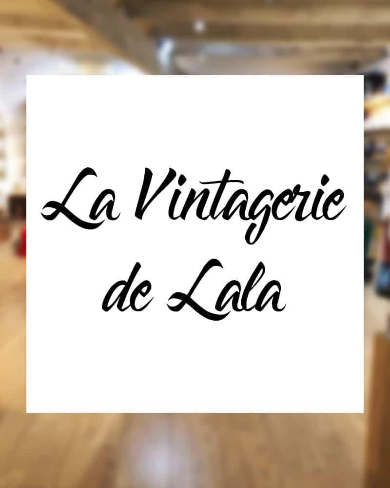 """Logo de la boutique """"La Vintagerie de Lala"""", chez Indie's & Co à Saint-Tropez, point de vente officiel des éventails Ramdam Dlx"""